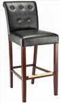 "Tufted Leatherette Restaurant Wood Dining Chair with 19"" wide seat"