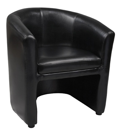 Black Barrel Chairs Lounge Seating