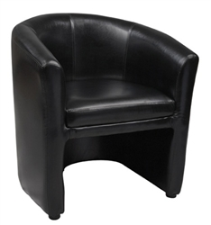 Black Barrel Chairs Night Club Lounge Seating  Black or Burgundy