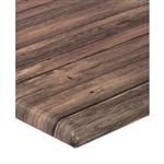 Distressed Walnut;; Outdoor Werzalit Tabletops
