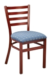 Metal Ladderback Wood Grain Restaurant Chair