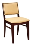 Upholstered with Nail Head Trim Restaurant Wood Chair