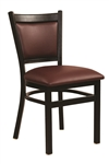 Black Metal Upholstered Dining Chair
