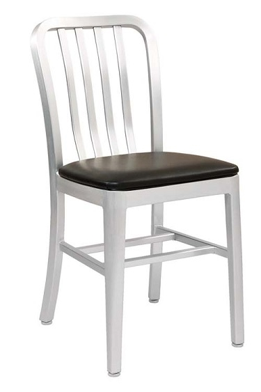 Brushed Aluminum Bistro Dining Chair