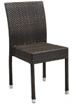 Espresso Wicker Outdoor Restaurant Dining Chair