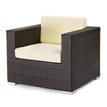 Lounge Wicker Arm Chair with Cushion