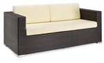 Espresso White Cushion Double Sofa