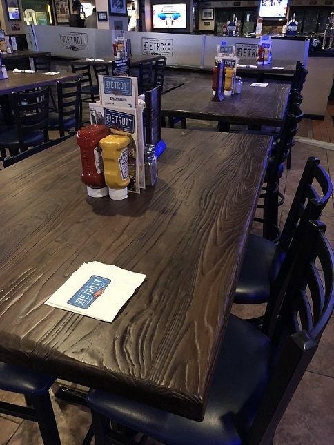 Reclaimed Wood Distressed Restaurant Tabletop