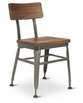 Reclaimed Wood Industrial Metal Chair
