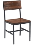 Reclaimed Wood Black Metal Industrial Chair