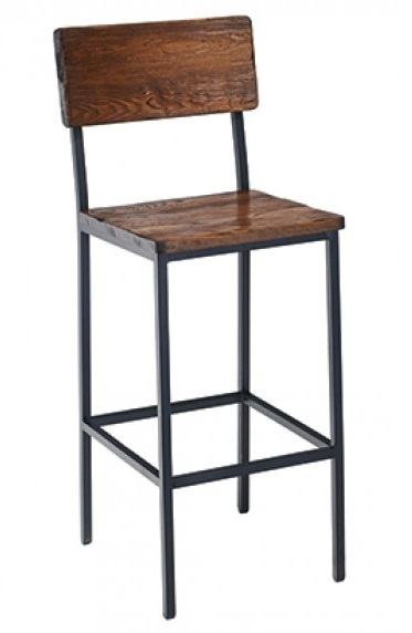 Reclaimed Wood Metal Bar Stool