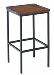 Reclaimed Wood Metal Industrial Bar Stool
