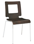 Modern Bent Wood Espresso Stacking Chair