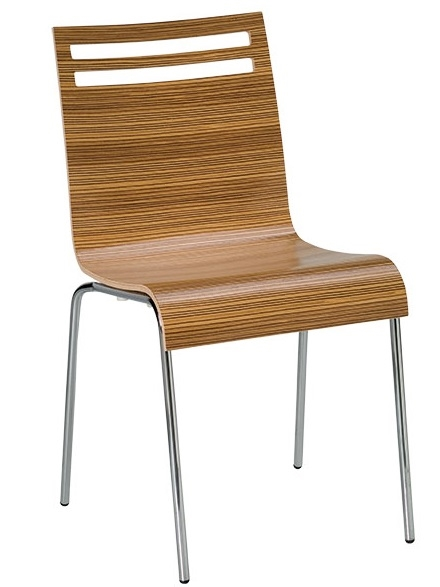 15 159 Bent Wood Zebra Stacking Chair