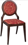 Circular Upholstered Back Upscale Dining Chair