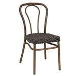 Hair Pin Metal Wicker Outdoor Dining Chair