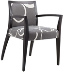 Upholstered Upscale Dining Arm Chair