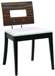 Zebra Wood Back Dining Chair
