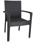 Wicker Aluminum Dining Arm PVC Chair
