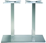 Rectangle SS Silver Tabletop Restaurant Dining Base