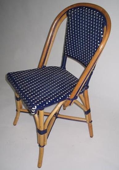 Brilliant 17 81 Rattan Wood Bistro Chair Navy Ivory Inzonedesignstudio Interior Chair Design Inzonedesignstudiocom
