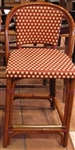 Cafe Bisto Rattan Wood Bar Stools