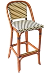 Rattan Bistro Bar-Stool Wood Frame