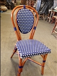 French Rattan Bistro Wood Chairs: