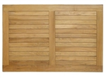 Plantation Grown Teak Solid Wood Slat Tabletops for Commercial Use