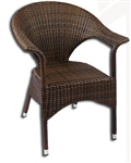 Modern Wicker Espresso Arm Chair