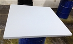 White Epoxy Resin Custom Table Tops: Any Color; Any Size,