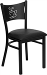 Coffee Black Metal Chair
