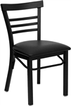 Small Ladder Back: Black Metal Dining Chair