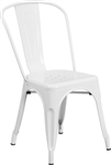 Industrial:  White Metal Outdoor Bistro Chair