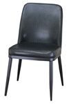 Modern Black Metal Upholstered Dining Chair
