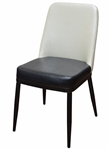 Modern Metal Upholstered Dining Chair
