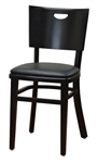 Black Chair w/ Black Padded Seat Restaurant Seating