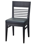 Modern Horizontal Slat Dining Chair