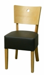 Natural Wood Dining Chair Thick Padded Seat