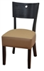 "Black Wood 2 "" Padded Seat Restaurant Dining Chair"