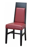 Modern  Upholstered Modern High Back Black Side Chair