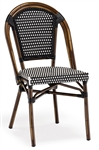 Rattan Bistro Chair Black/Ivory Weave