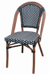 Bistro Rattan Dining Chair Black/Weave Weave