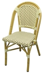 Bistro Rattan Chair Natural with Ivory Brown