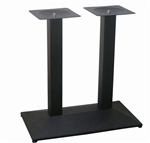 Square Rectangle Black Steel Table Base