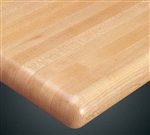 "Restaurant Tabletops: ASH Butcher Block 1.5"" Thick.  Affordable Restaurant Tabletops: Various Edges"