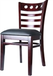 Nautical Ladder Wood Restaurant Dining Chair