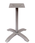 Silver Outdoor Table Top Cross Restaurant Base