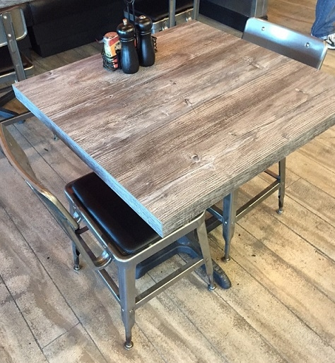 57 Rustic Driftwood Laminate Restaurant Table Tops