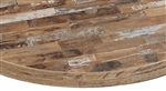 "Distressed Pine Laminate  Restaurant Table Tops 2"" Thick High Pressure"